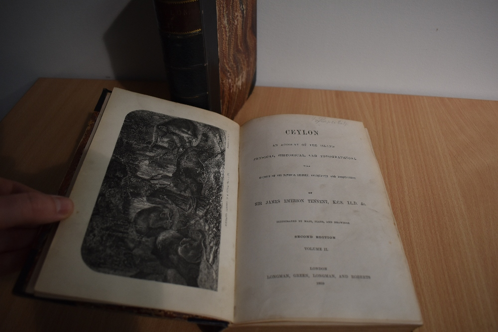Travel. Tennent, Sir James Emerson - Ceylon, An Account of the Island: Physical, Historical, and - Image 2 of 2
