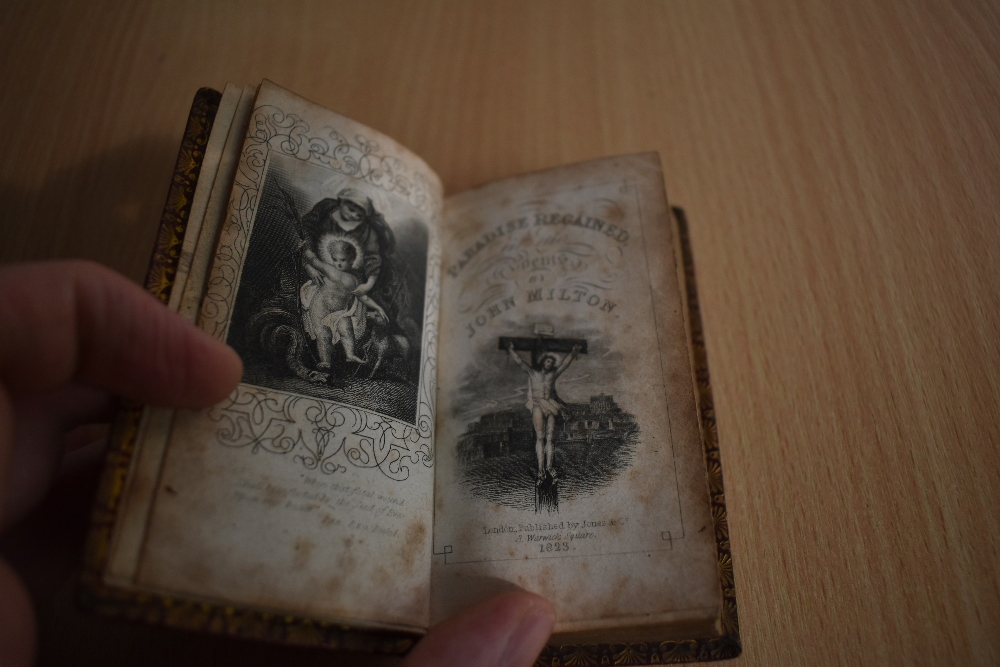 Antiquarian. Milton, John - Paradise Regained and other poems. London: 1823. 12mo (miniature). - Image 2 of 2