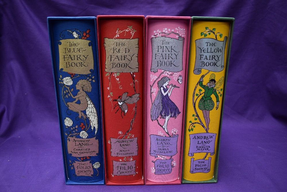 Folio Society. Fairy Books. Four from the series, comprising; Blue (2008); Red (2008); Pink ( - Image 2 of 2