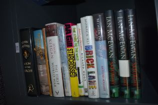 Signed copies. A selection of modern books in dust wrappers, fiction and non-fiction, signed by