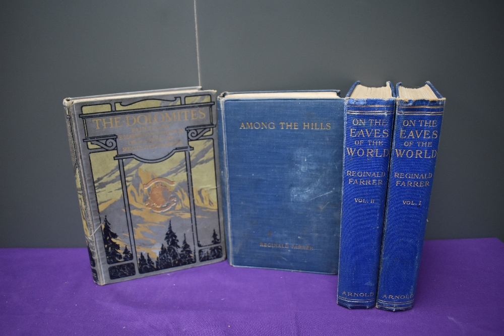 Travel and related. Reginald Farrer selection. Includes; On the Eaves of the World. 1926, 2nd