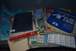 A collection of vintage ephemera or aircraft and modelling interest also including RAF Aircraft