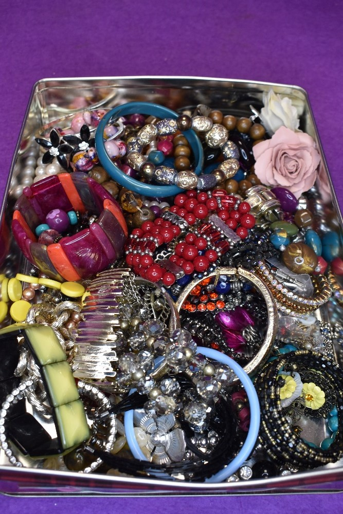 A large selection of costume bangles and bracelets