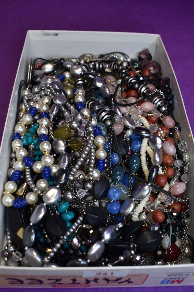 A large selection of fashion costume jewellery necklaces