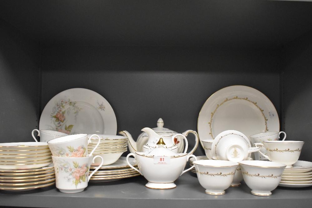 A selection of tea services including Royal Doulton Rondo and Nanrich pottery