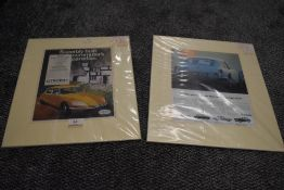 Two advertising leafs for sports car including Citroen GS and Triumph GT6