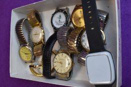 A selection of wrist watches including Enicar, Sekonda, Lorus etc