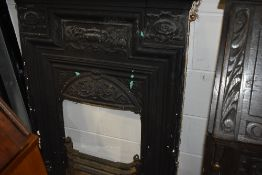 A traditional cast iron fireplace