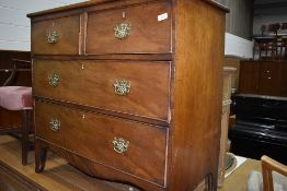 A 19th Century mahogany chest of two over chest of drawers