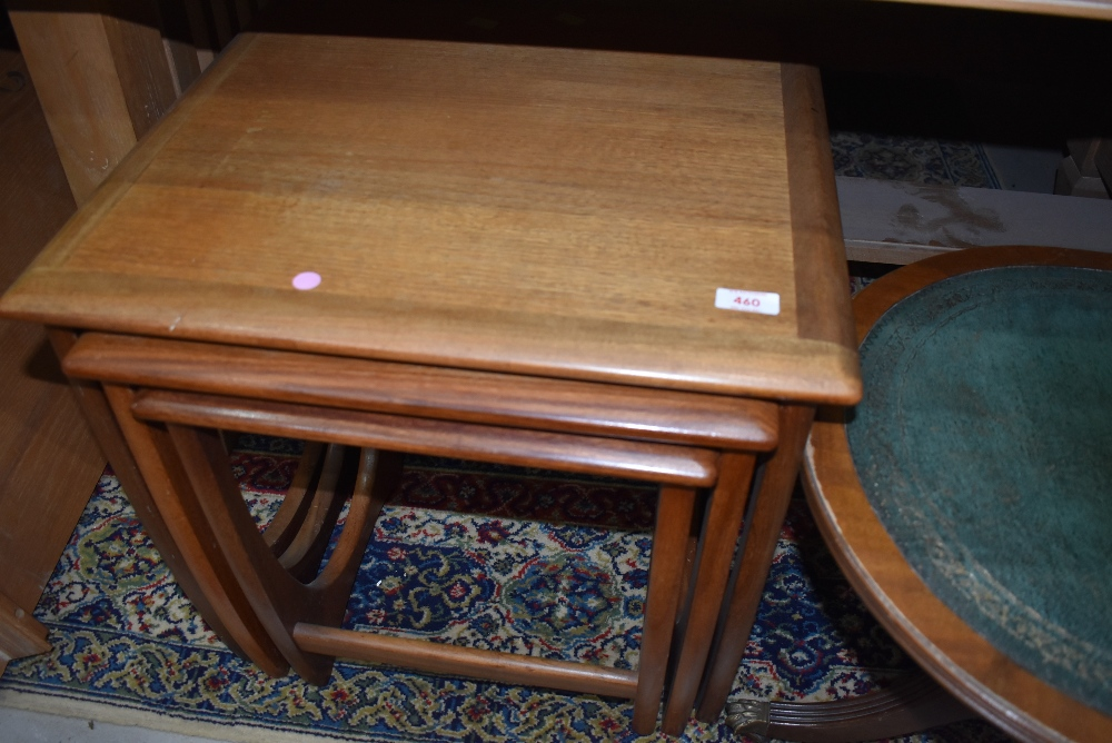 A vintage nest of three teak tables, possibly Victor Wilkins for G Plan