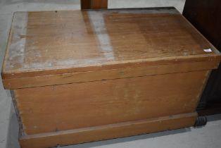 A 19th Century pine bedding chest