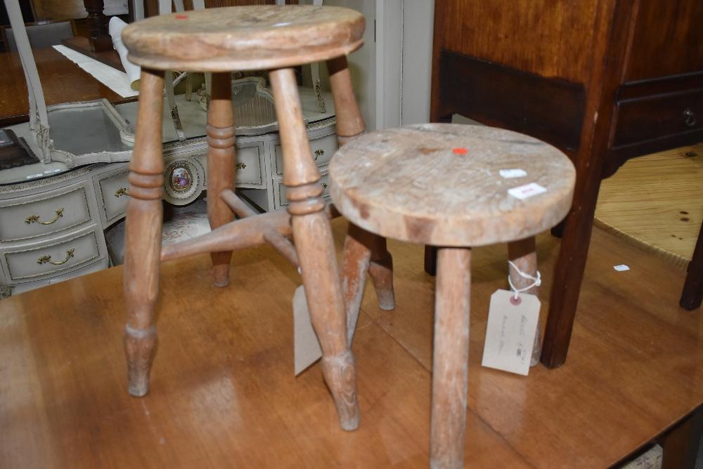 Two vintage milking type stools
