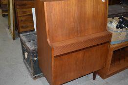 A vintage teak bureau, some damage to drawer interior, should be easy fix