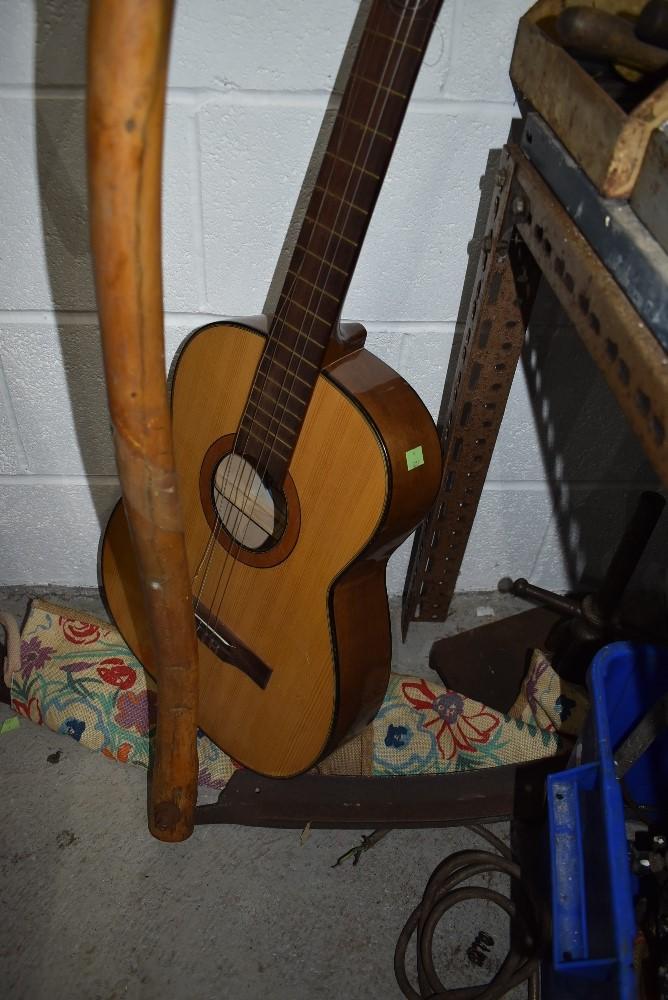 A vintage classical acoustic guitar by Tatra De Luxe