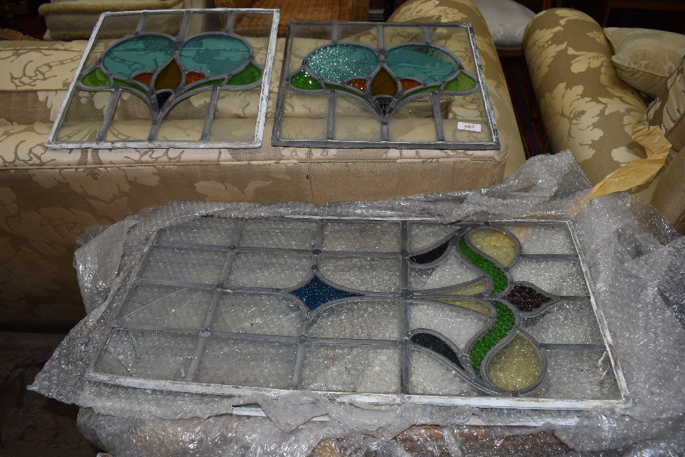 A selection of leaded glass