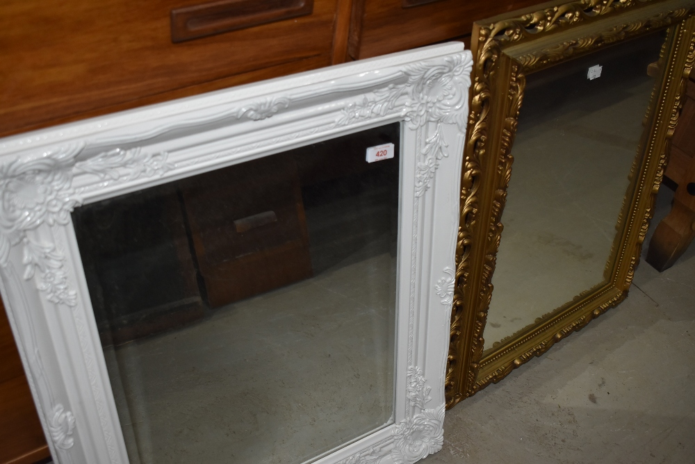 Two reproduction wall mirrors