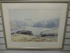 A print, after William Heaton Cooper, Lakes landscape, 45 x 64cm, plus frame and glazed