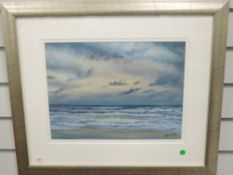 A pastel sketch, Airey Aileen, A New day Dawns, signed and attributed verso, 28 x 36cm, plus frame