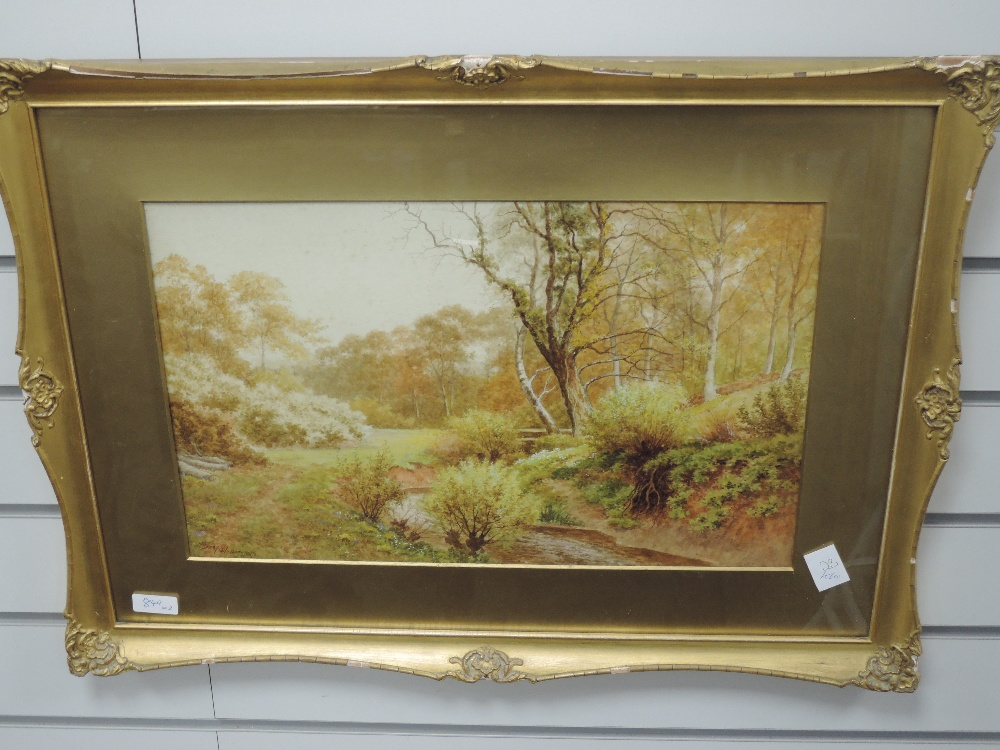 A pair of watercolours, Sidney P Winder, river landscapes, signed and dated 1917, each 29 x 45cm, - Image 4 of 4