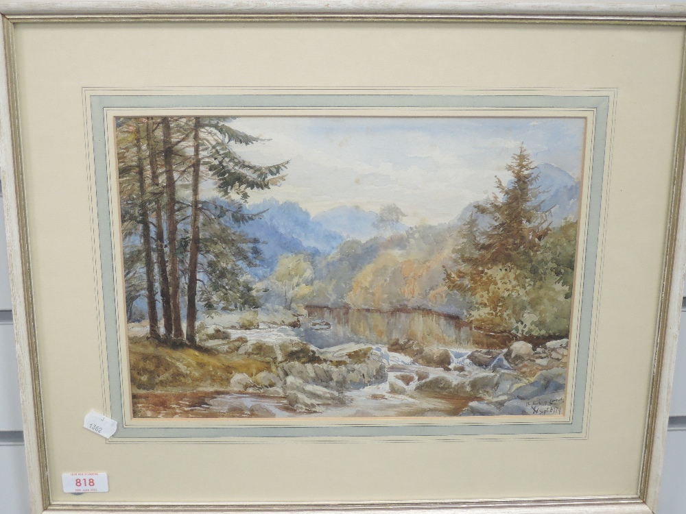 A watercolour, Betws -y -coed, indistinctly initialled, and dated 6/74, 23 x 33cm, plus frame and - Image 2 of 2