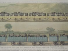 A re- print, Liverpool and Manchester Railway, 30 x 70cm