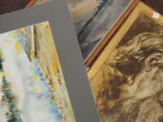 Three decorative pictures, inc, oil on board, Vebbon, landscape, 20 x 32cm, plus frame