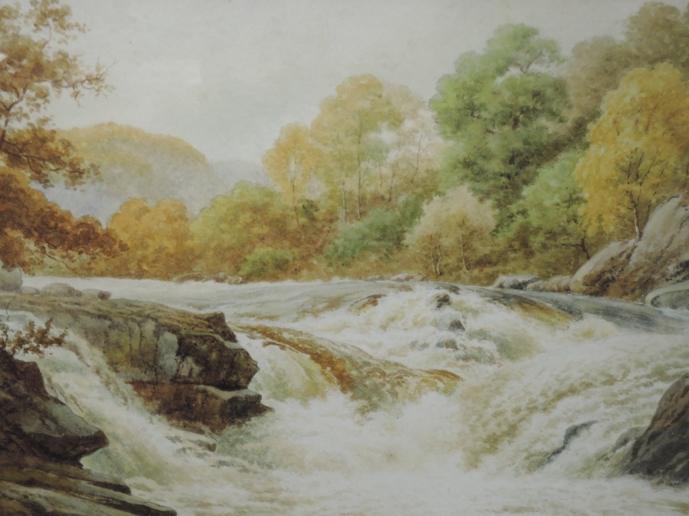 A pair of watercolours, Sidney P Winder, river landscapes, signed and dated 1917, each 29 x 45cm,