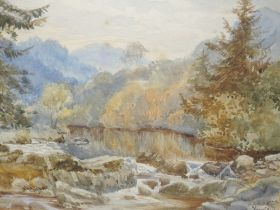 A watercolour, Betws -y -coed, indistinctly initialled, and dated 6/74, 23 x 33cm, plus frame and