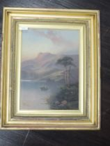 A pair of gouache paintings, John Henry Boel, Scottish mountain and loch landscapes, one signed,
