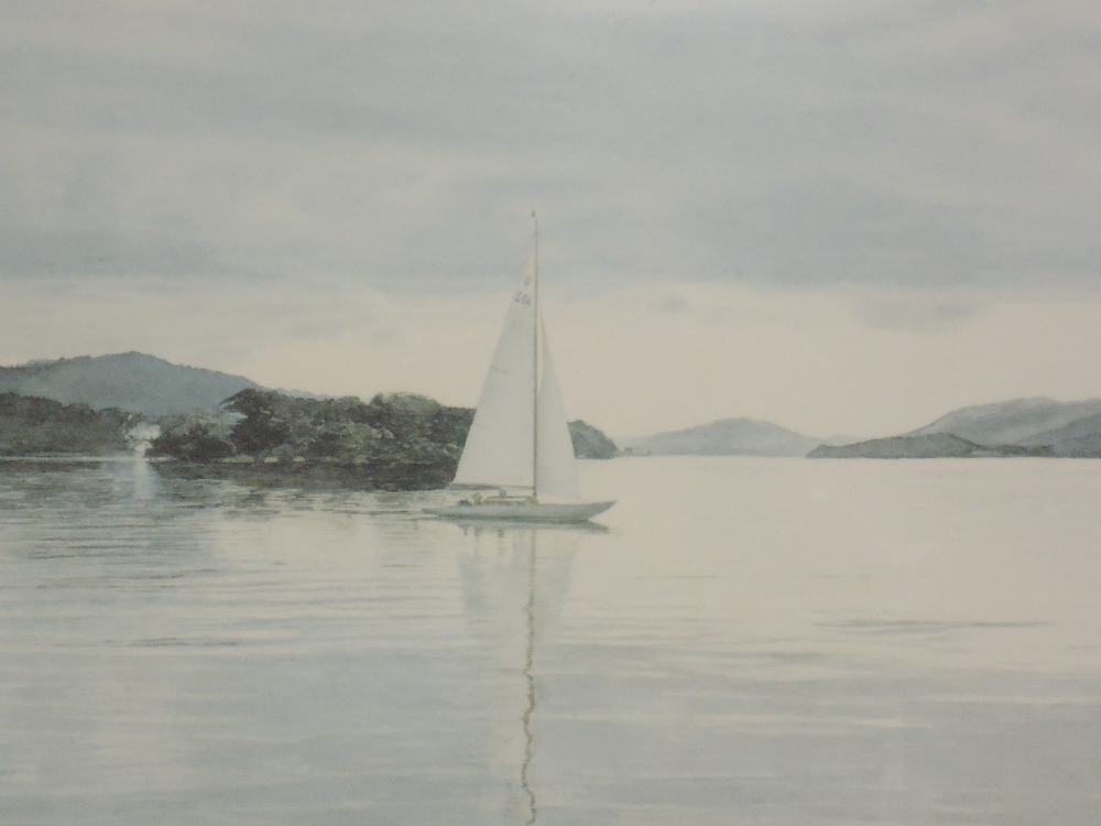 A Ltd Ed print, after Michael Revers, Sail on Windermere, signed and numbered 271/850, 26 x 40cm,