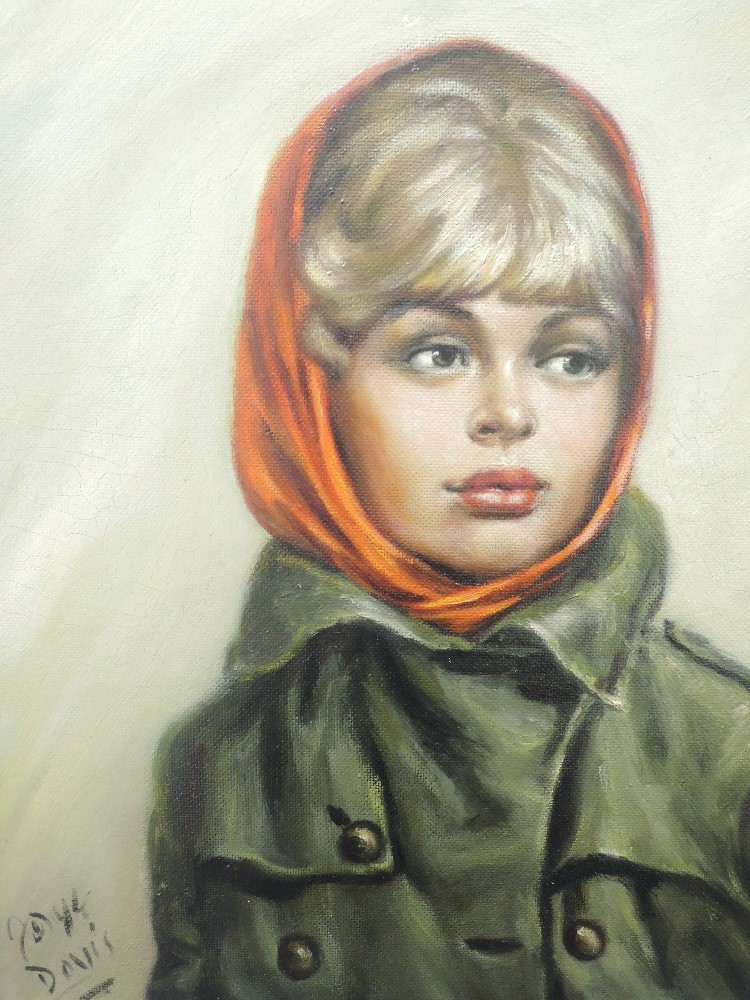 An oil painting on board, Davis, Tracy, 60 x 50cm, a print, Great Western, 40 x 55cm, plus frame and