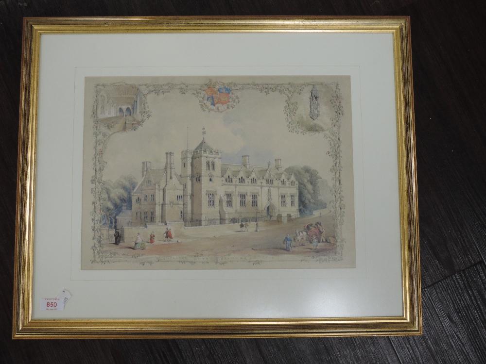 A Ltd Ed print, Lancaster Royal Grammar School, num 16/500, 29 x 40cm, plus frame and glazed - Image 2 of 2