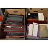 Two boxes of mainly GB First Day Covers in albums and loose, 1960's-2004, some Mint Stamps seen