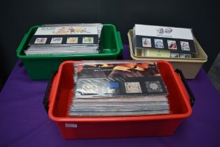 A collection of Royal Mail Presentation Packs, Commemorative Stamps Only, 1981 to 2007 appears