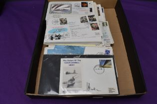 A collection of over 100 RAF and similar First Day Covers, most bearing signatures, mainly 1980's,