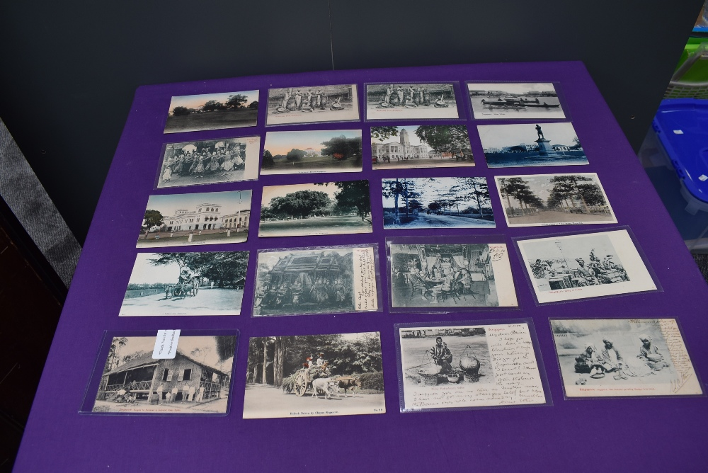 A collection of vintage Ethnographic black & white and colour Postcards, Singapore Javanese Hadjee - Image 5 of 9