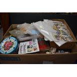 A large box containing World Stamps, Loose, on paper, mainly used, in albums and boxes