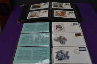 Two albums of World Covers including Benhams, 1960's onwards, 1977 Christmas Cover Collection seen