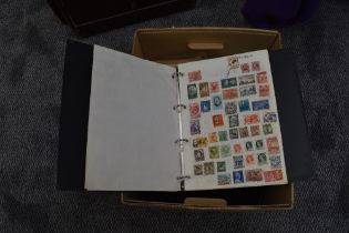 A box of Commonwealth Stamps, loose and in albums, mainly used