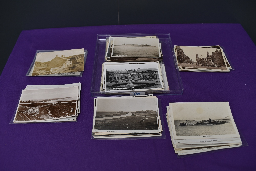 A collection of approx 90 vintage Postcards of Barrow and surrounding are including Coast Road,