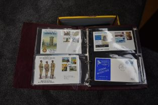 A box of First Day Cover Albums, GB, Channel Islands & Isle of Man