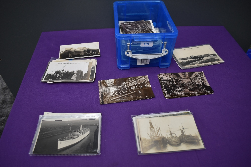 A collection of approx 200 vintage Postcards of Barrow, mainly real photo cards, Vickers Factory