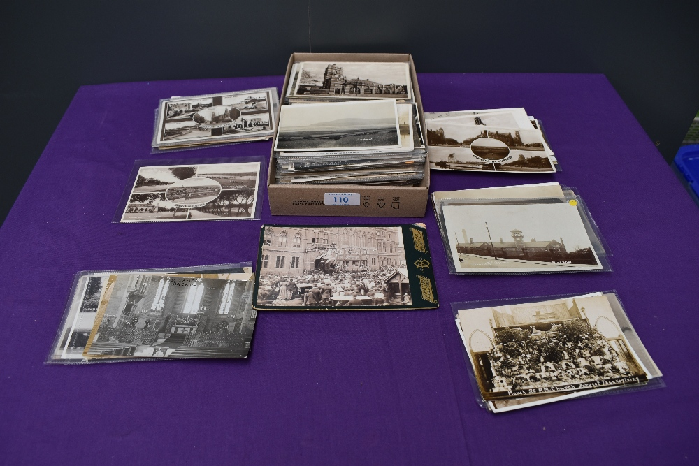 A collection of approx 180 vintage Postcards of Barrow, mixed interest including Town Hall, Laying