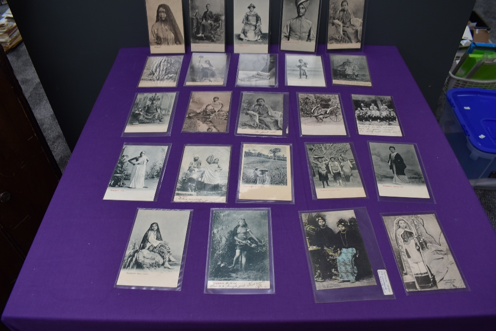 A collection of vintage Ethnographic black & white and colour Postcards, Singapore Javanese Hadjee - Image 9 of 9