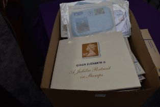 A box of GB, Channel Islands and Isle of Man Stamps, Aerogrammes, Registered Letters for Isle of
