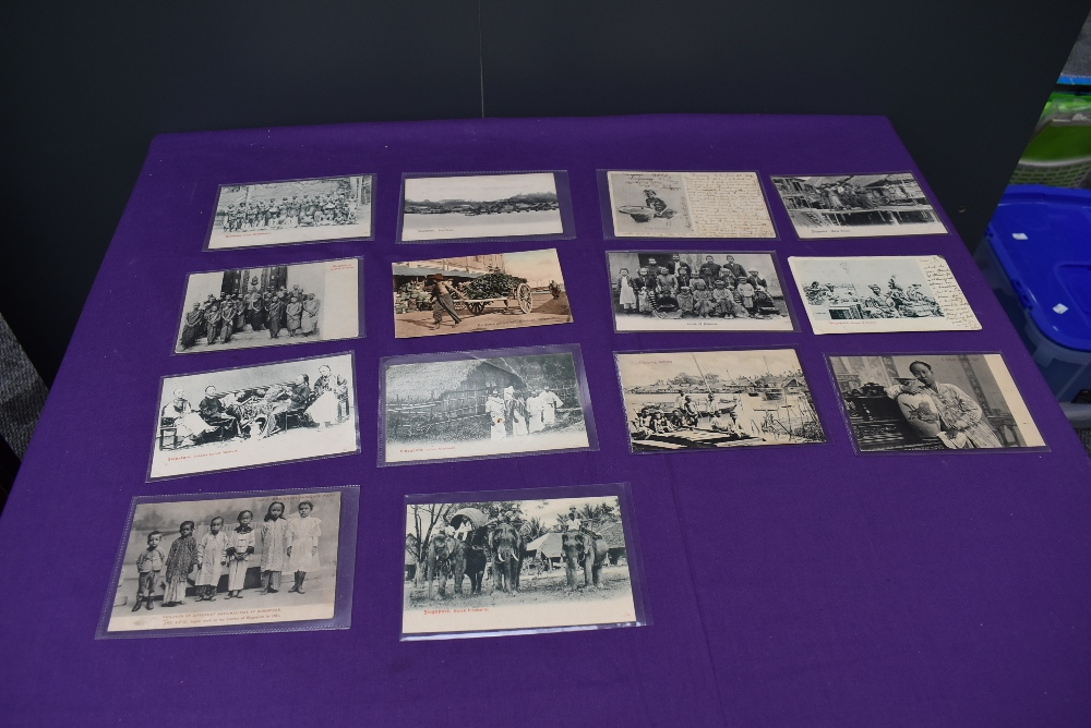 A collection of vintage Ethnographic black & white and colour Postcards, Singapore Javanese Hadjee - Image 8 of 9