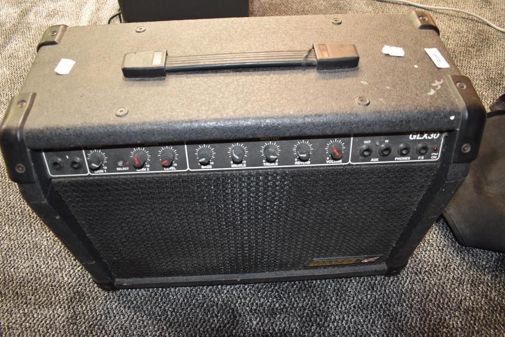 A Carlsbro GLX30 combo amplifier