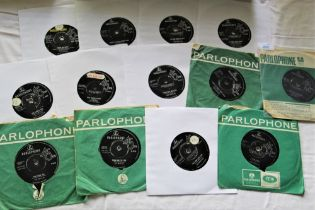 A lot of Beatles UK 45'S with some in company sleeves - 13 in total