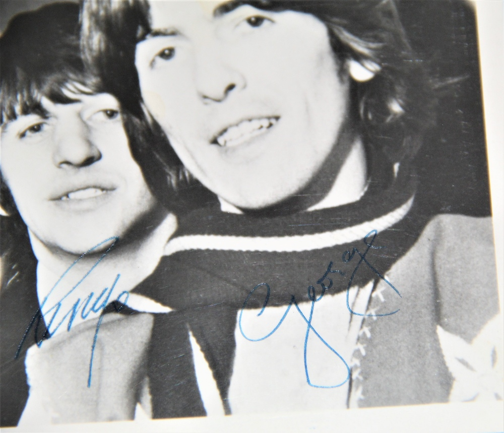 A Beatles signed photo - looks like 1965 / 1966 - dedicated to Harry - all four signatures present - - Image 4 of 4