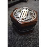 A Lachenal Concertina, 46 Button, Chrome end plate. Stamped Louis Lachenal/Dutch , serial number